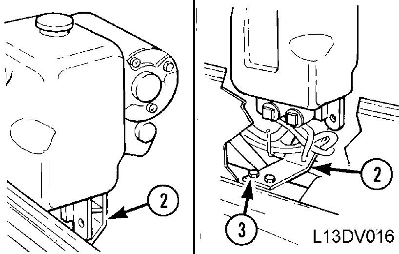 """Drain water system (coolant) (2). Refer to """"OPERATION"""