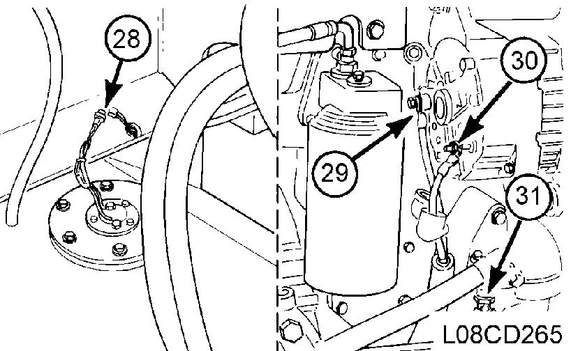 """Remove the Water Pump (3). Refer to """"ENGINE SHOP MANUAL"""