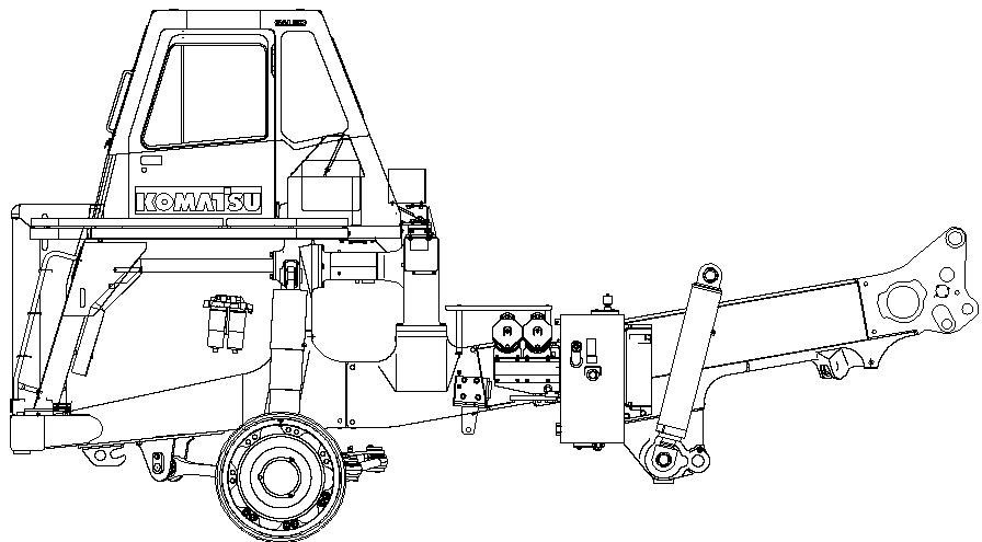 KOMATSU GALEO HD465-7 HD605-7 DUMP TRUCK FIELD ASSEMBLY
