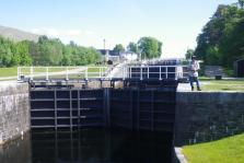 0612 Fort William to Spean Bridge 3 Neptune's staircase up