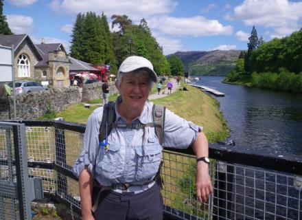 0614 Sth Laggan to Fort Augustus 6 1st view Loch Ness