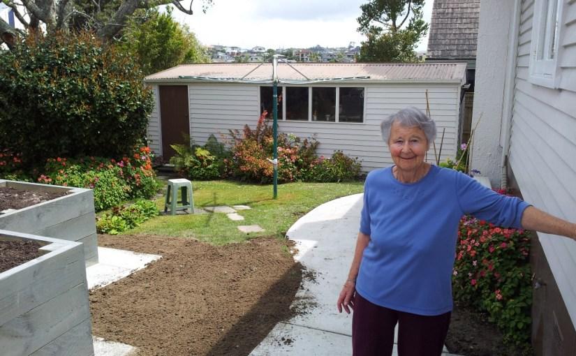 Mother's new vegie garden