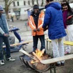Asylbewerber auf dem Oranienplatz: Nach dem Übergriffen gibt es Rassismusvorwürfe Foto:  picture alliance/dpa