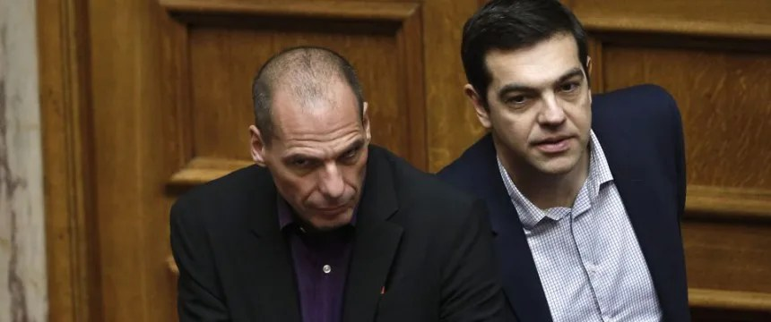 Ministerpräsident Alexis Tsipras (r) und Finanzminister Gianis Varoufakis Foto: picture alliance/AP Photo