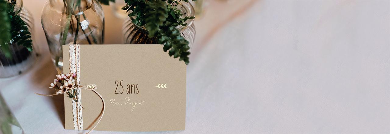 invitation anniversaire mariage