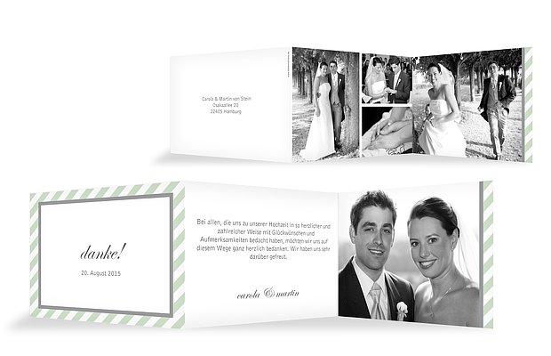 Dankeskarte Hochzeit Passepartout