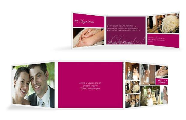 Danksagungskarten zur Hochzeit Dankeskarten in 12 Tagen