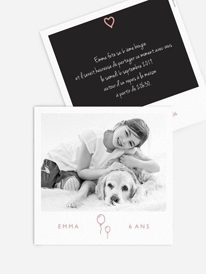 cartes d invitation anniversaire fille