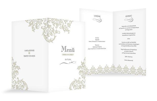 Menkarte Hochzeit Prachtvoll