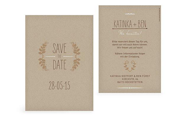 SavetheDate Karten zur Hochzeit  Versand in 12 Tagen