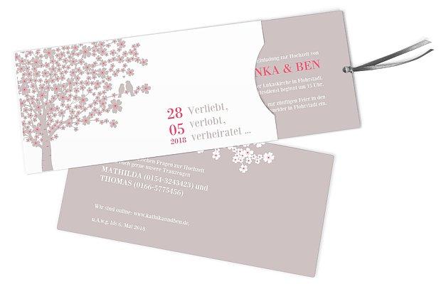Einladungskarte Hochzeit Kirschblten