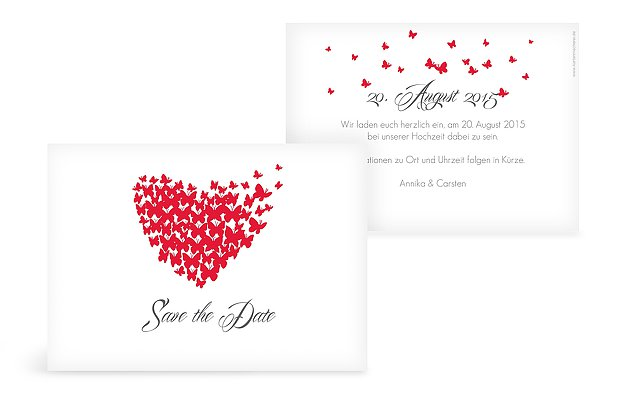 SavetheDate Karte Butterflies