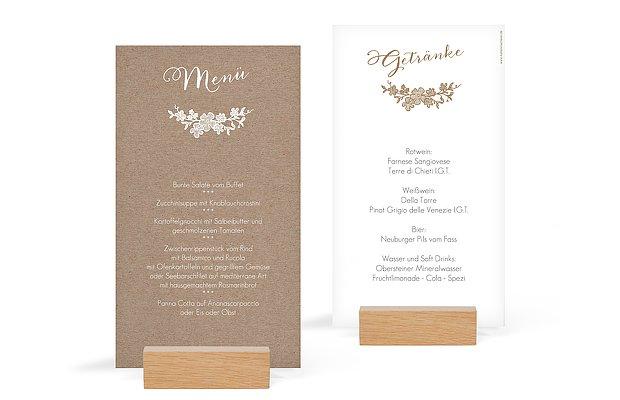 Menkarte Hochzeit Spitzenblte