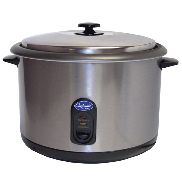 Globe Rc1 Countertop Rice Cooker With Built-in Thermostat 25 1 Cup Servings 120v