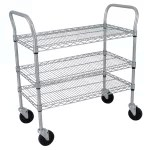 Vollrath 97320 3 Level Stainless Utility Cart w/ 300 lb