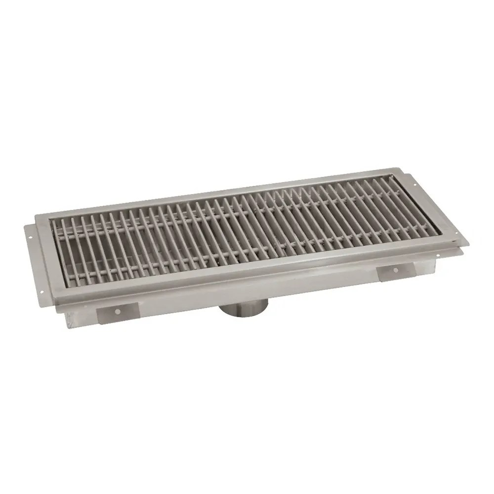 advance tabco ftg 1272 floor trough removable strainer basket 12x72x4 14 ga 304 stainless