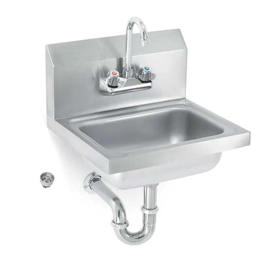 vollrath k1410cs wall mount commercial hand sink w 17 l x 15 w x 5 1 2 d bowl gooseneck faucet
