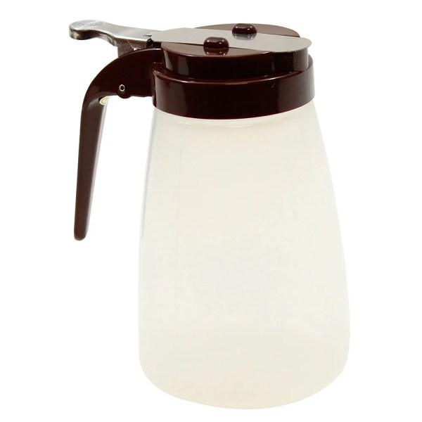 Tablecraft Pp10b 10 Oz Syrup Dispenser - Polypropylene Brown