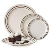 "GET BF-090-U 9"" Round Dinner Plate, Melamine, White"