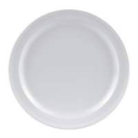 """GET DP-509-W 9"""" Round Dinner Plate, Melamine, White"""