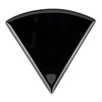 "GET PZ-85-BK 9"" Triangular Pizza Plate, Melamine, Black"