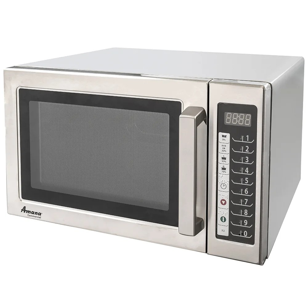 amana rcs10ts 1000w commercial microwave w touch pad 120v