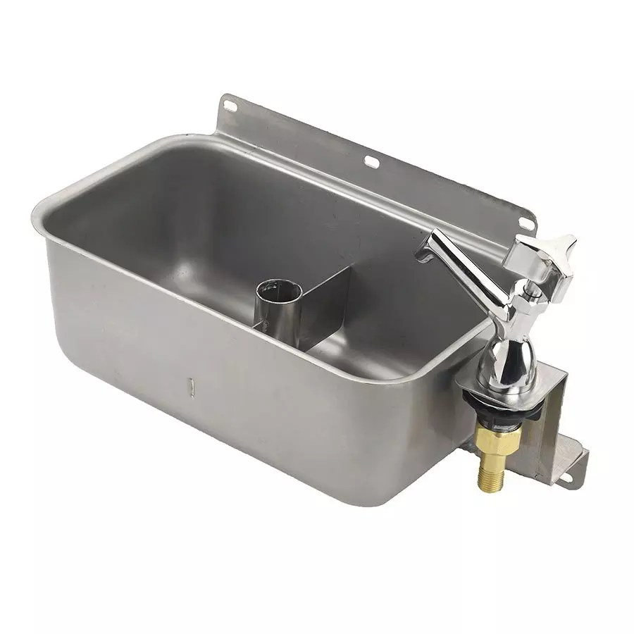 krowne 16 153l low lead front mount dipperwell includes faucet with shutoff