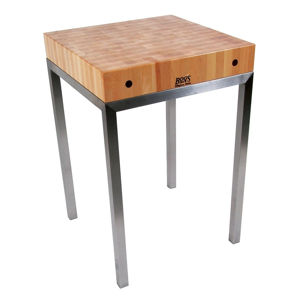john boos kitchen islands free standing pantry met stn24 metropolitan station island table 24 w x 36 h 4 thick