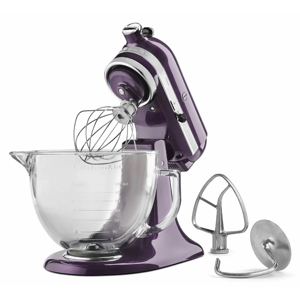 kitchen aid 5 qt mixer k45ss kitchenaid ksm155gbpb 10 speed stand w glass bowl accessories plumberry