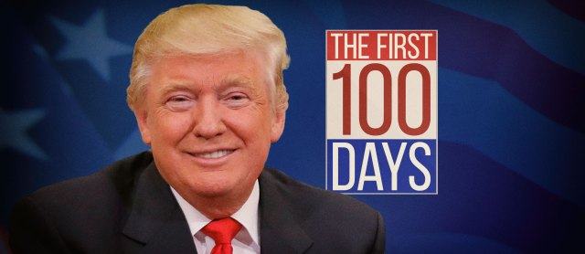 Image result for Trump's first 100 days