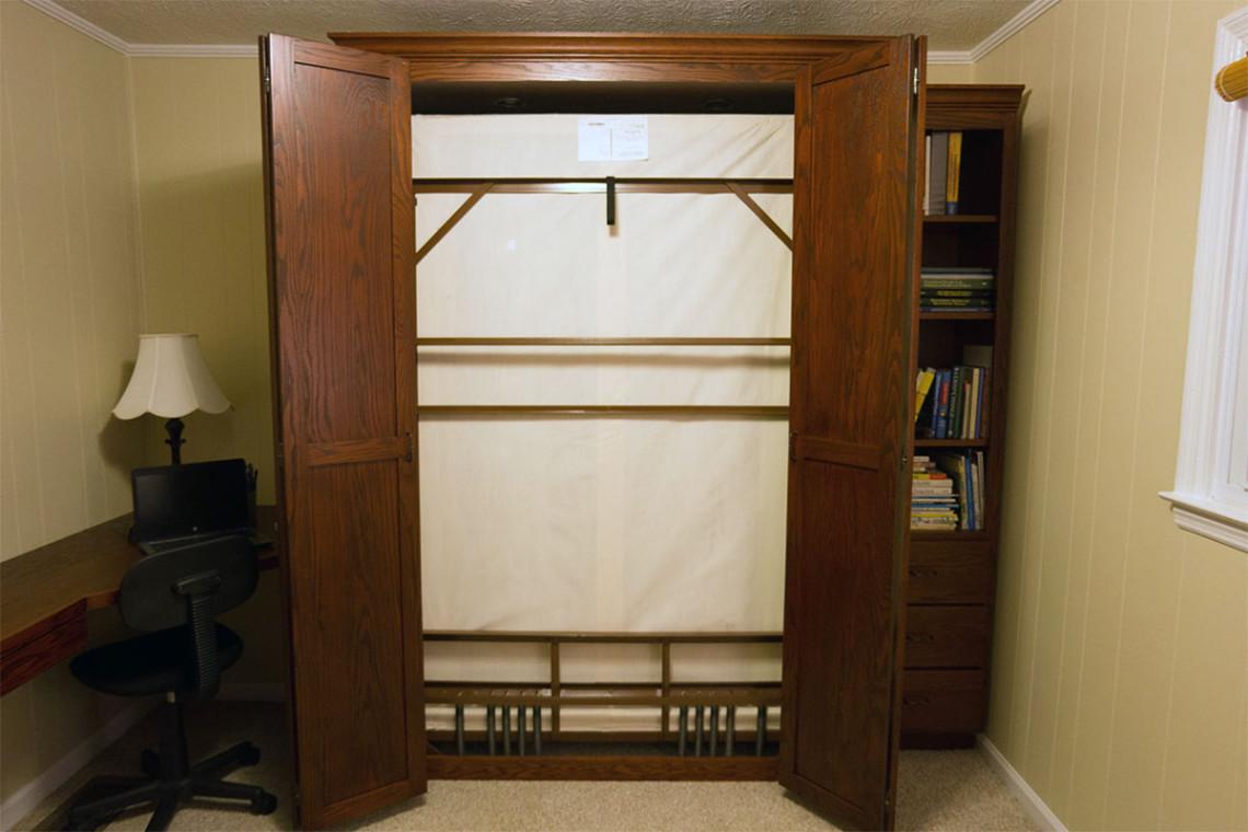 bifold door oah murphy bed and bookcase