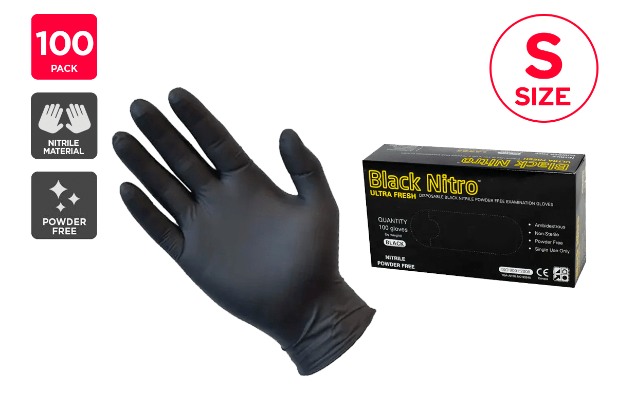 Ultra Fresh Disposable Nitrile Synthetic Rubber Gloves ...