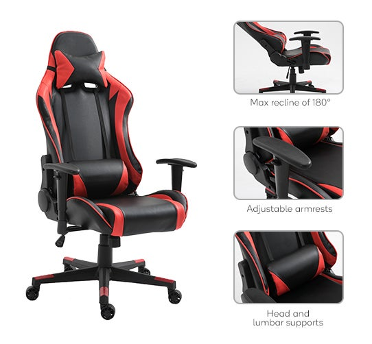 Dick Smith  Ergolux RX10 Deluxe Gaming Office Chair Red