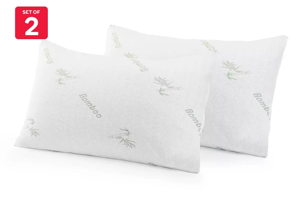 set of 2 trafalgar luxury bamboo pillow case