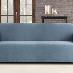 Surefit Pearson Sofa Cover Large Pillow Covers For 3 Seater Federal Blue Ebay