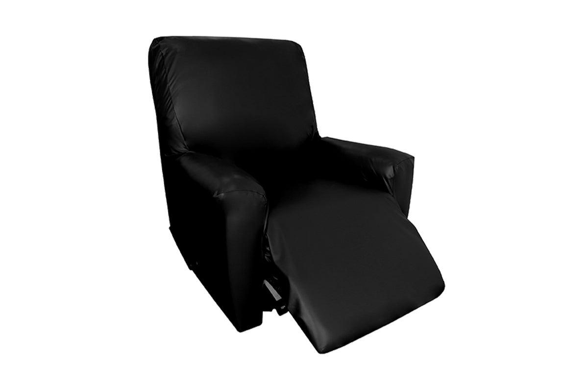 surefit faux leather recliner chair cover black