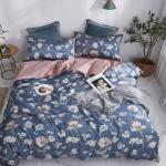 3d Floral Dark Blue Background 7090 Bed Pillowcases Quilt Duvet Cover Quilt Cover Bedding Set Quilt Cover Quilt Duvet Cover King Single Matt Blatt