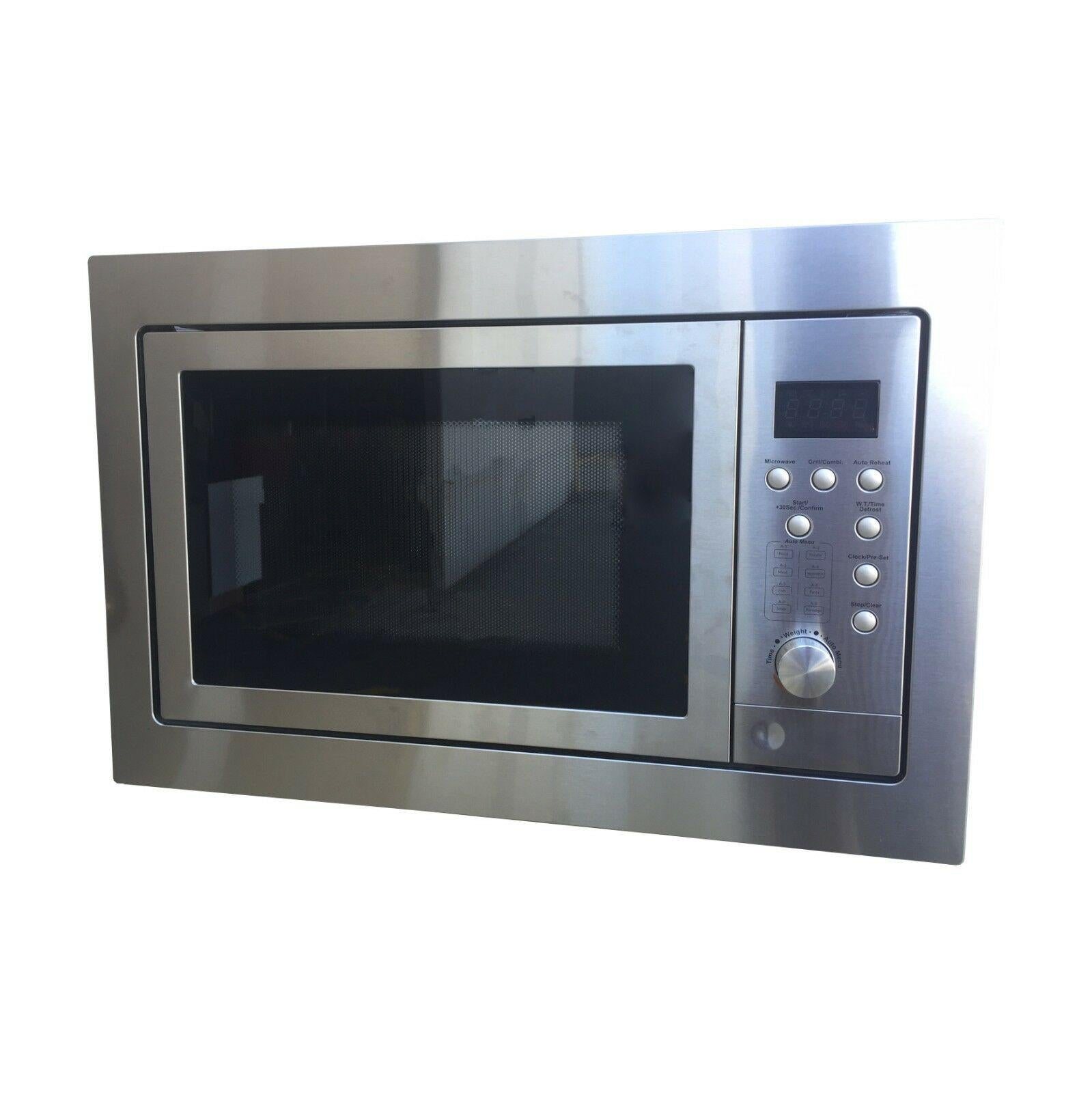 tisira 60x40cm stainless steel compact built in microwave oven grill tmw228x