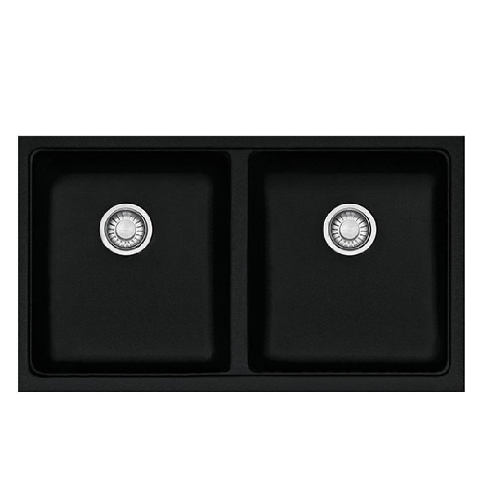 franke sink kubus granite double bowl onyx kbg120 b onyx