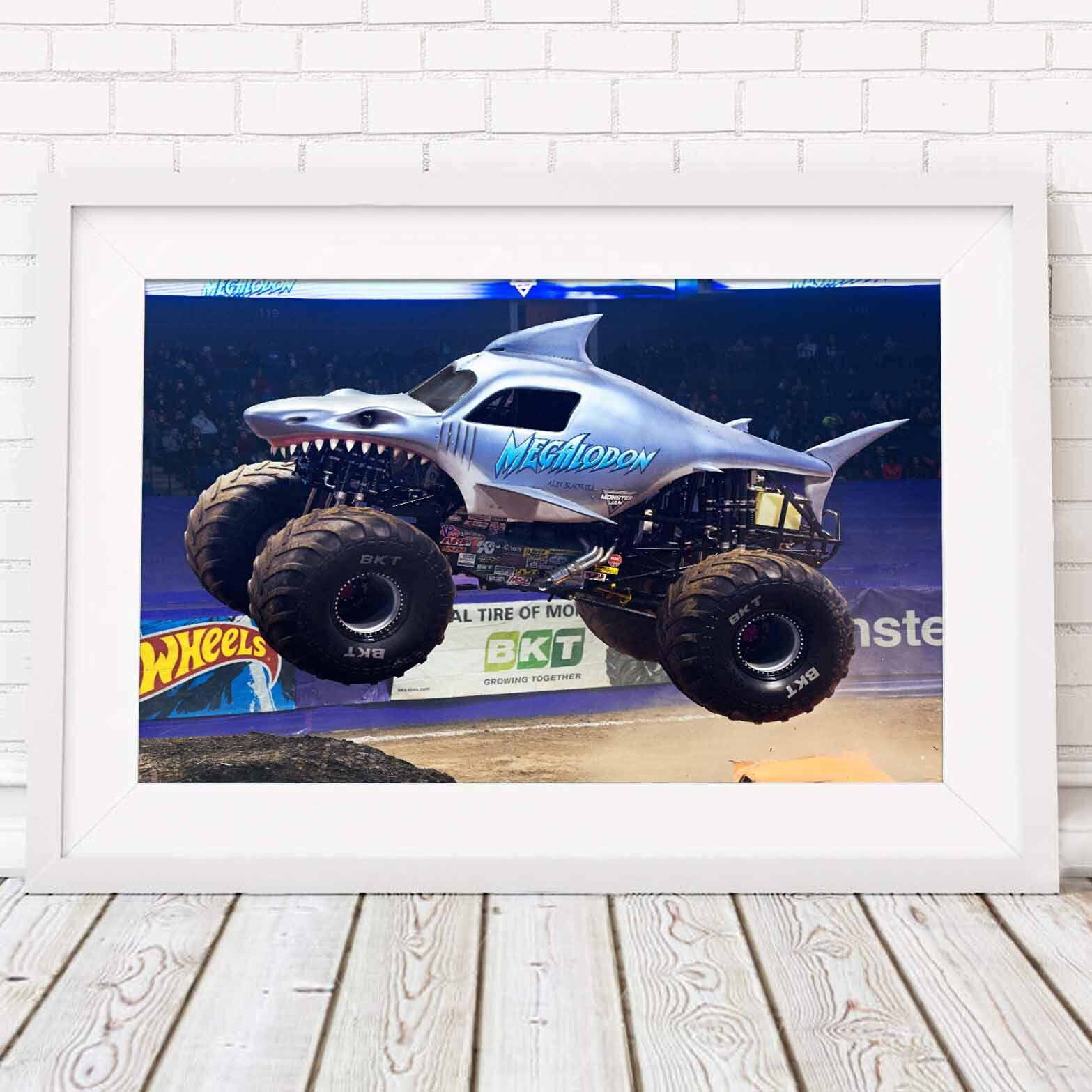 monster jam truck megalodon storm poster picture print size a5 to a0 new