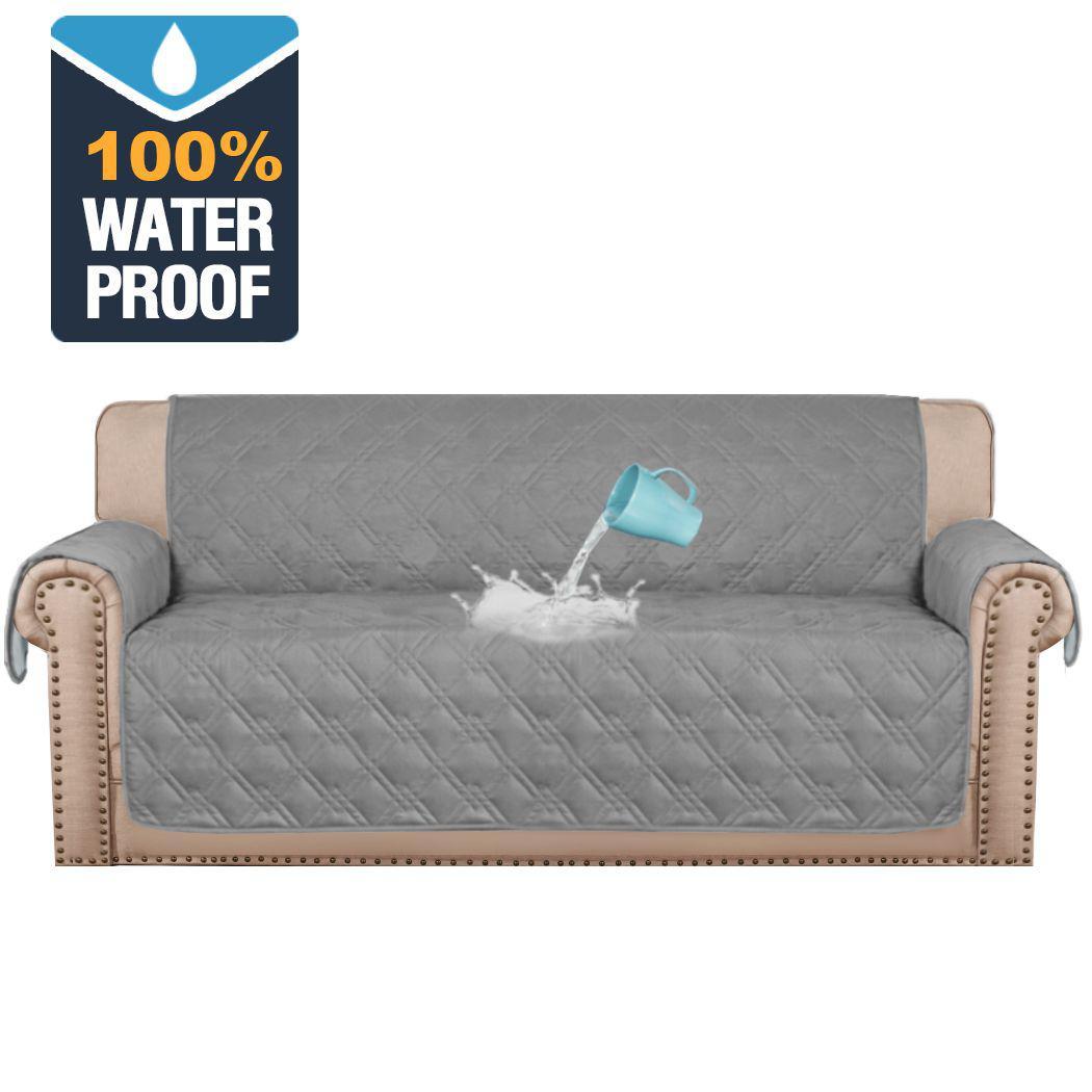 100 waterproof sofa slipcover premium sofa 1 2 3 4 seater and recliner sofa furniture protector non slip pet friendly faux cotton sofa covers grey