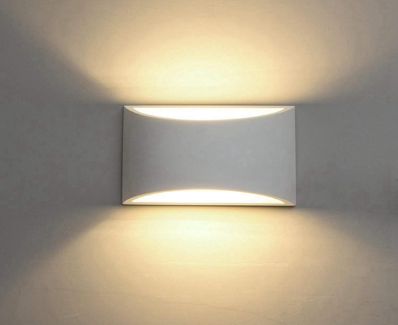 modern led wall sconce lighting fixture lamps 7w warm white 2700k up and down indoor plaster wall lamps with g9 bulbs not dimmable warm white light