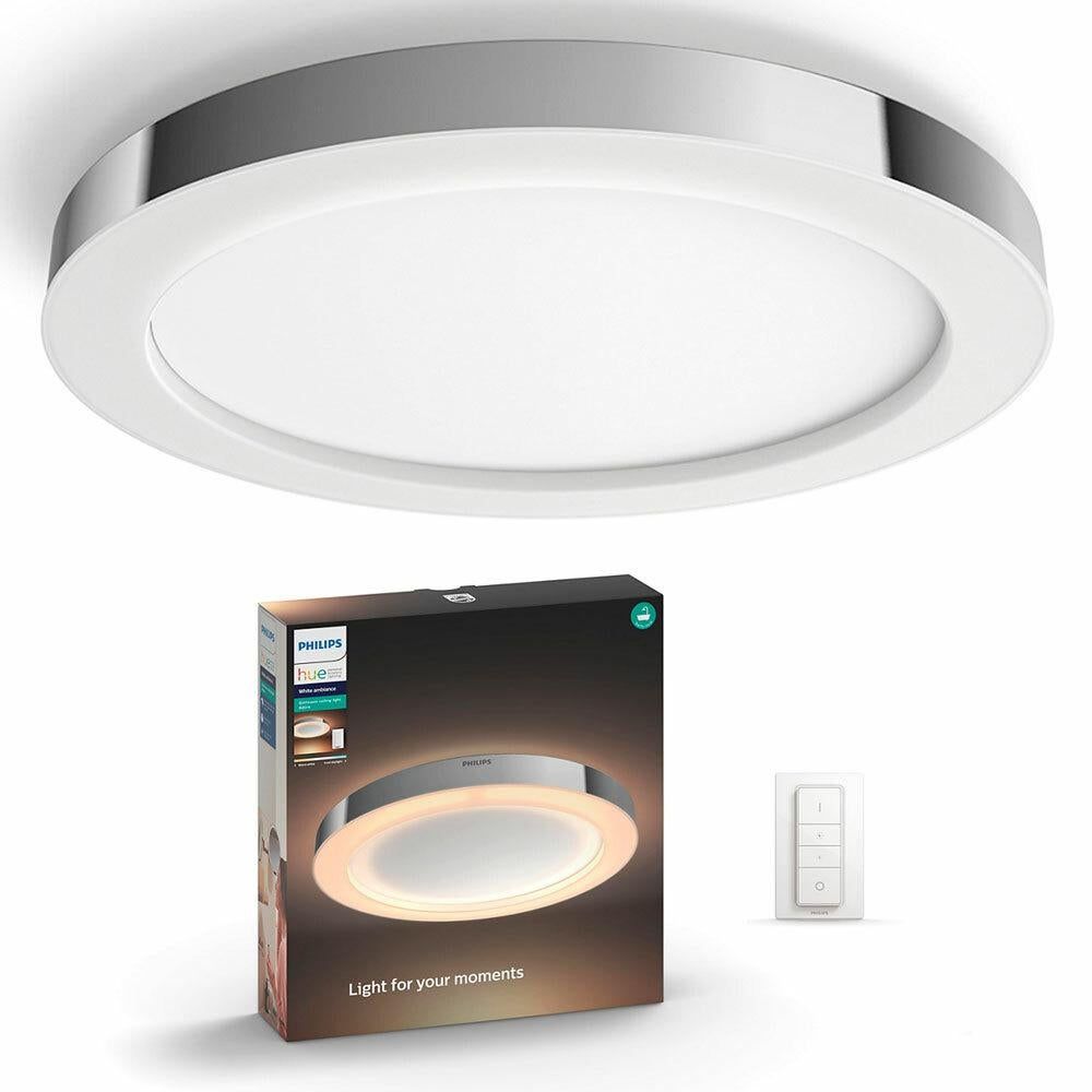 Dick Smith Philips Hue Adore Bathroom Ceiling Light Ambiance Round Dimmable Control Chrome Lighting Ceiling Lights