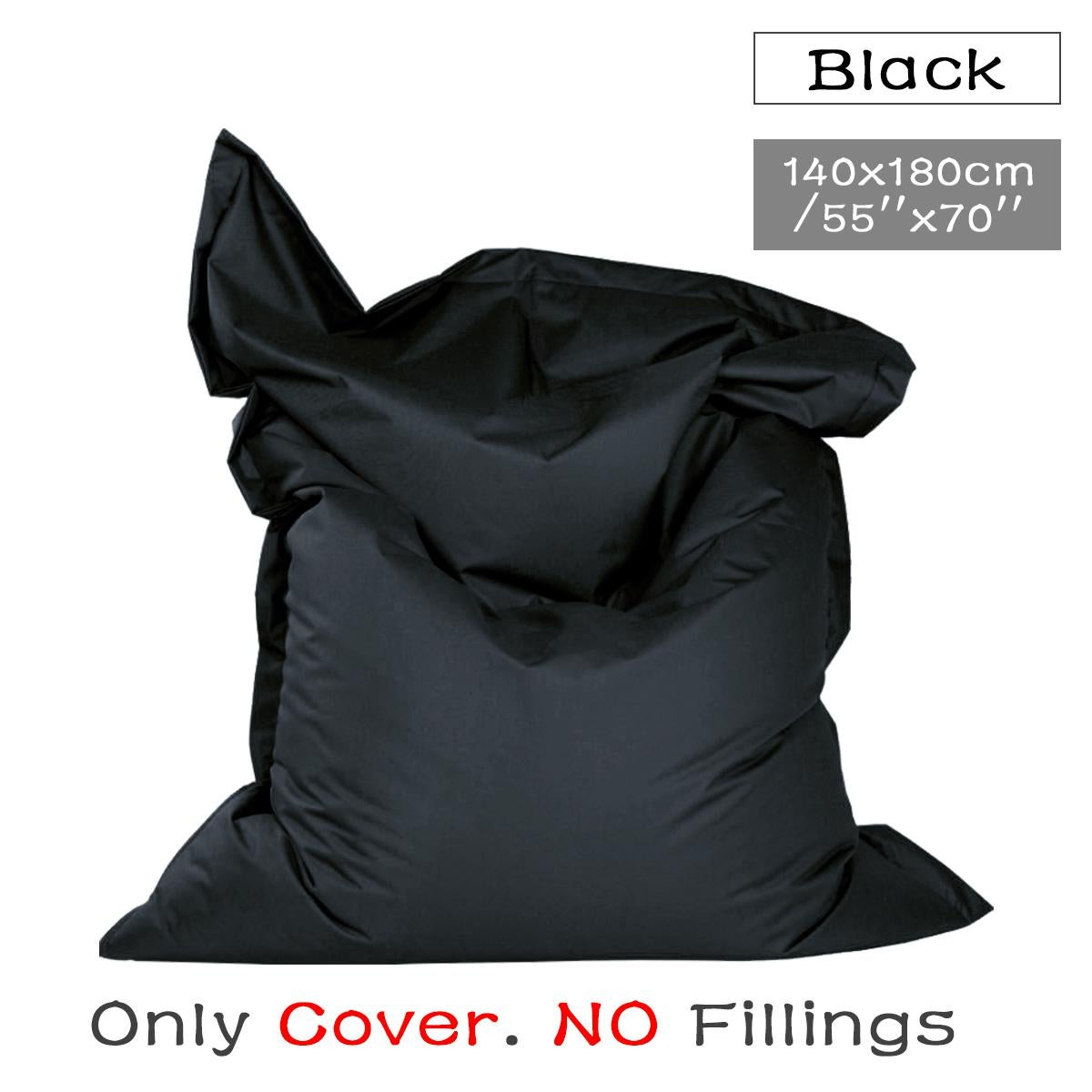 giant bean bag floor cushion indoor outdoor waterproof garden beanbag black only cover