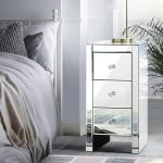 Mirrored Furniture Bedside Tables Table Chest Drawers Nightstand Kogan Com