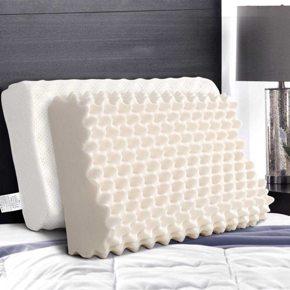 giselle latex pillow contour egg crate pillows set of 2