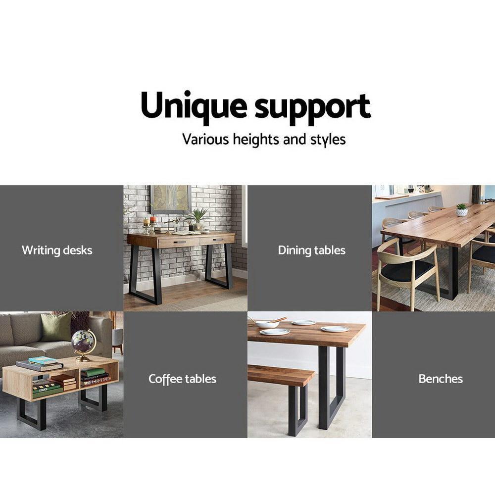 artiss table legs dining table coffee table metal table legs 30cm l x 40cm h