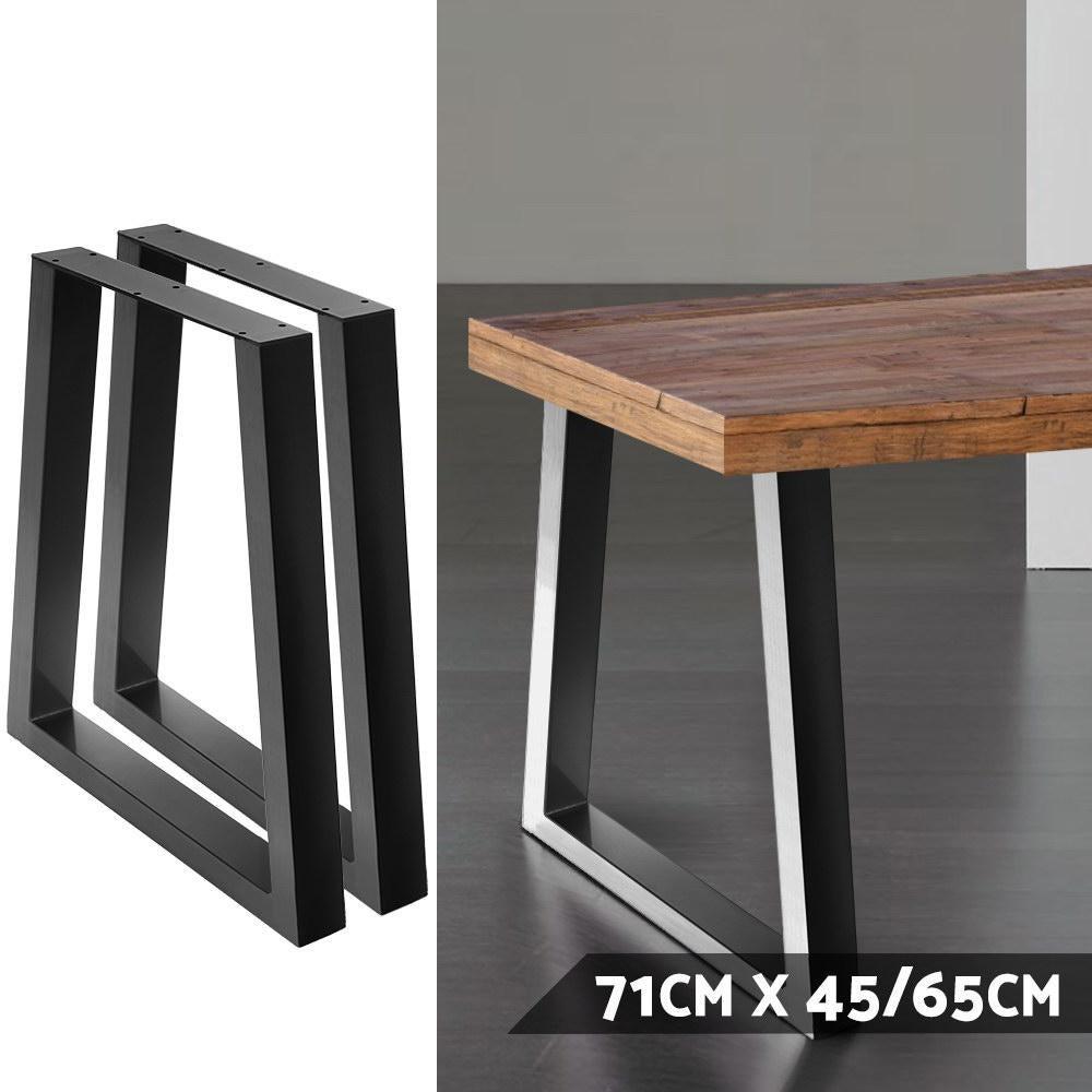 artiss table legs dining table coffee table metal table legs 45 65cm l x 71cm h