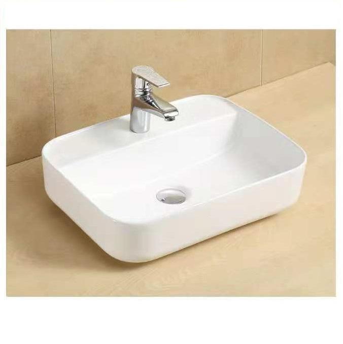 Camber Rectangular Above Counter Wash Basin With Taphole Matt Blatt