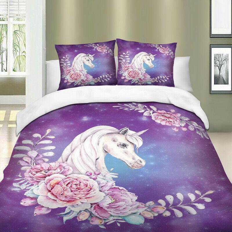 unicorn wreath quilt cover set girls queen quilt cover sets